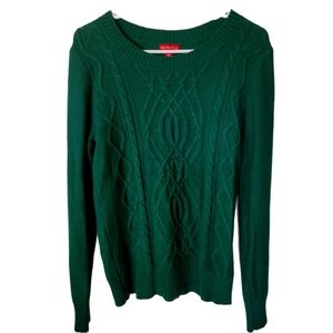 Merona green cable knit sweater